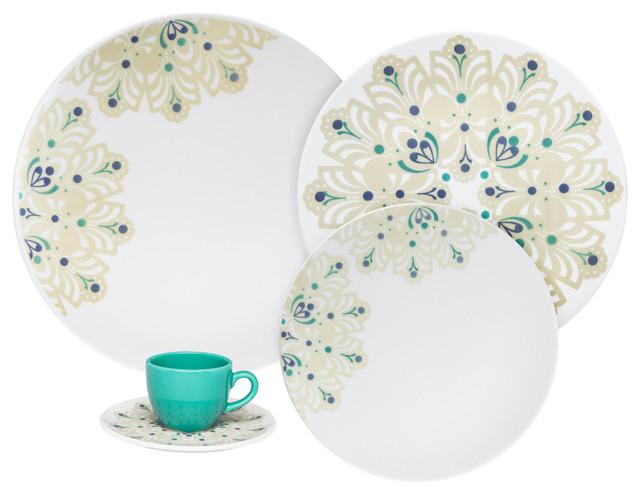 Oxford Coup Porcelain Dinnerware Set 20 Pieces Lindy Hop  sc 1 st  Houzz & Oxford Coup Porcelain Dinnerware Set 20 Pieces - Contemporary ...