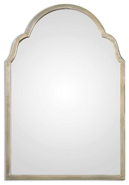 Brayden Petite Silver Arch Mirror By Designer Grace Feyock.