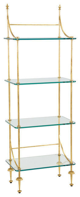 Chelsea House Coleman Gold Glass Etagere 381993 Par