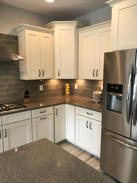 Waypoint And Contractors Choice Cabinetry 650f Painted Silk Kitchen Indianapolis By Concepts The Cabinet Shop Houzz Ie