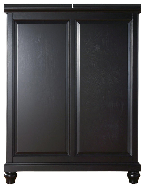 Crosley Furniture Cambridge Expandable Bar Cabinet In Black Traditional Wine And