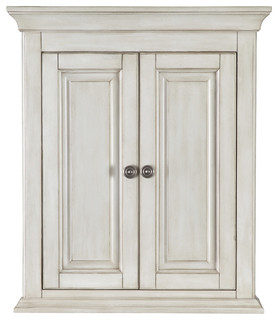 Corsicana Antique White Wall Cabinet - Farmhouse - Bathroom Cabinets - by Foremost