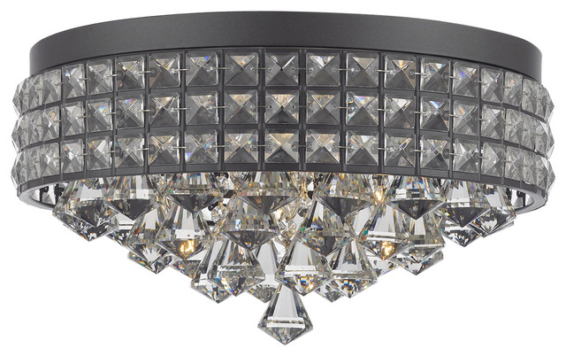 Flush Mount French Empire Crystal Chandelier Crystal.