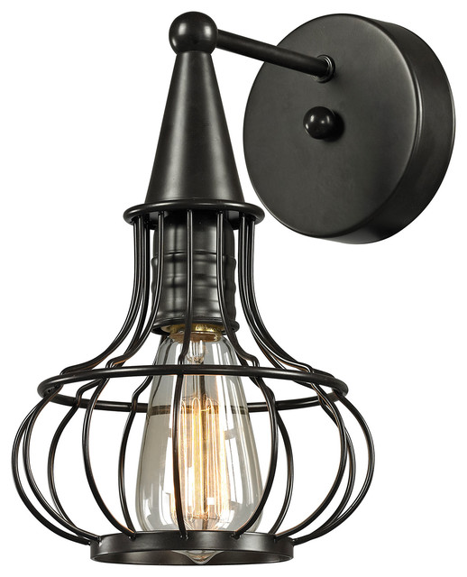 Elk Lighting Yardley: Elk Lighting Yardley Wall Sconce, Oil Rubbed Bronze