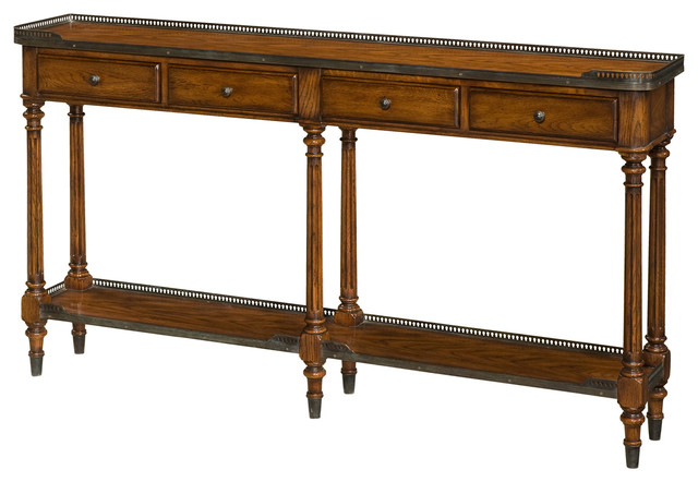 Slimline Console Table theodore alexander essential ta the slim oak console - traditional