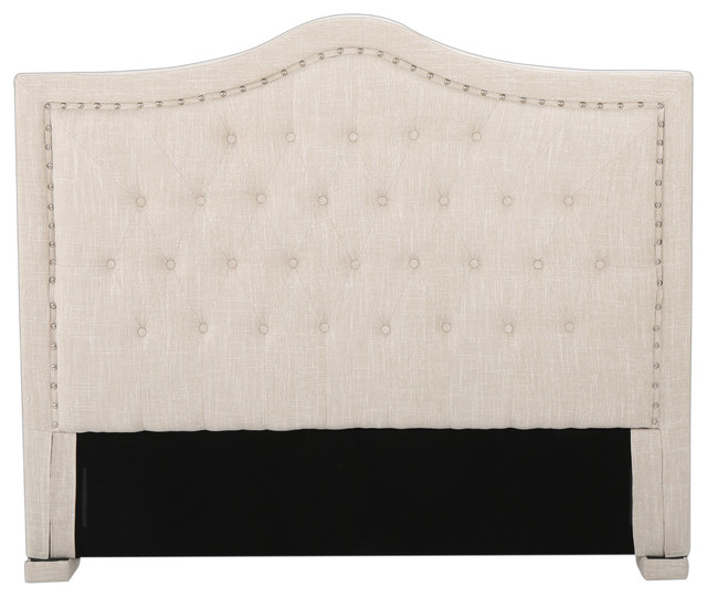 Denise Austin Home Cannes Fully Upholstered Fullqueen Button Tufted Headboard