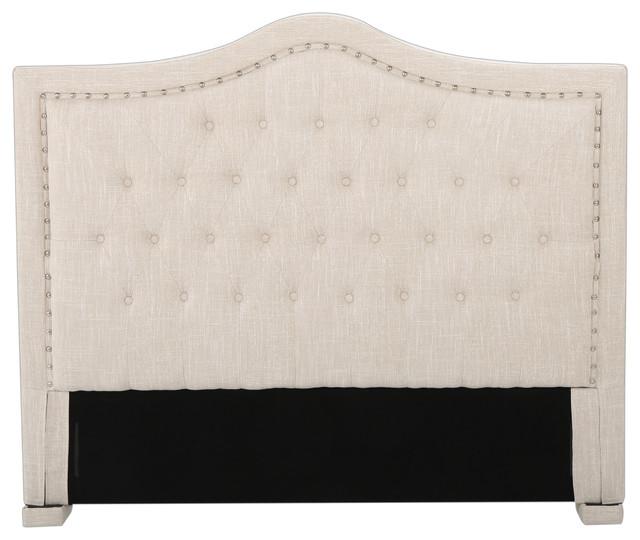 Denise Austin Home Ronan King/cal King Upholstered Tufted Fabric Headboard.