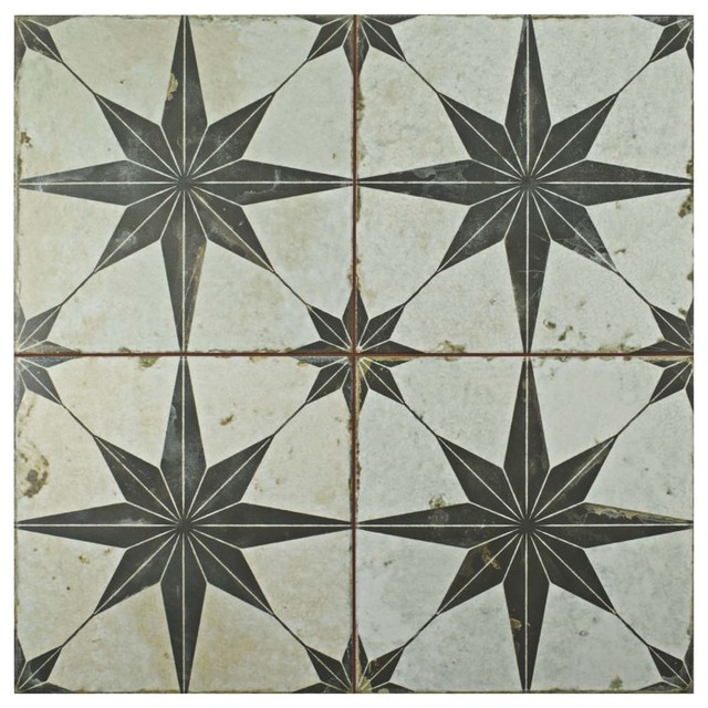 17 63 x17 63  Royals Estrella Nero Ceramic Floor and Wall Tiles  Set. 17 63 x17 63  Royals Estrella Nero Ceramic Floor and Wall Tiles