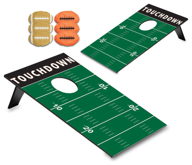 Exceptionnel Picnic Time Polyester Portable Football Touchdown Design Bean Bag Toss Game