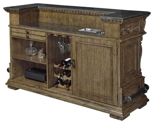 Stratton Bar Cabinet With Two adjustable Shelves - Wine And Bar ...