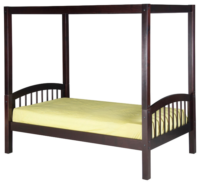 Camaflexi twin canopy bed arch spindle headboard for High end canopy beds