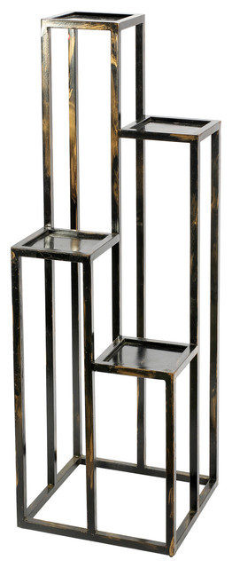 47 25 Quot Tall 4 Tier Cast Iron Flower Plant Stand Black And