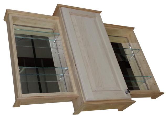 "... Bath Cabinet, Unfinished, 31.5""X43.25""X4"" farmhouse-medicine-cabinets"