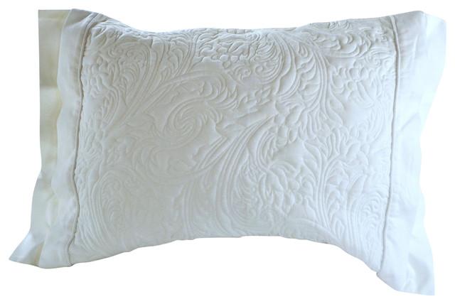 Empress Silk Winter Clouds Soft Knit Cotton Pillow Sham