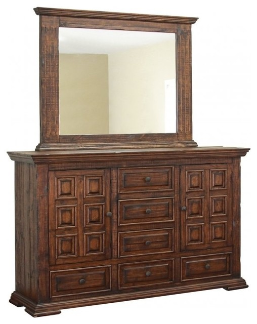 Mauve Dresser, With Mirror.
