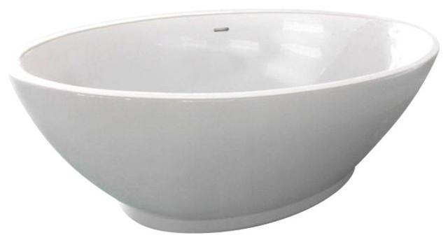 Chalice Minor 1650 mm Acrylic Freestanding Gloss White Tub