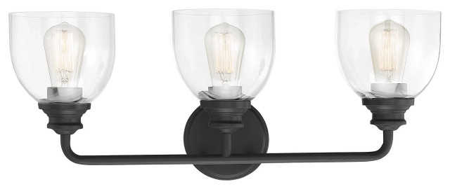 Vale, Black, 3-Light Bath