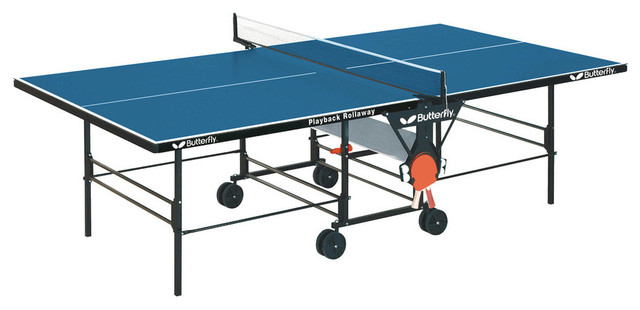 Butterfly Playback Rollaway Table Tennis Table, Blue