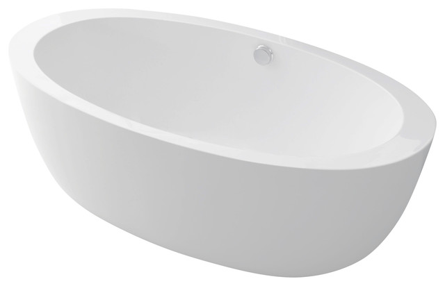 Anzzi Yield Series 5.58 Ft. Freestanding Bathtub In White.