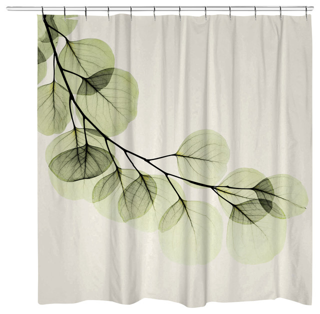 Shop Houzz | Laural Home Eucalyptus Shower Curtain - Shower Curtains