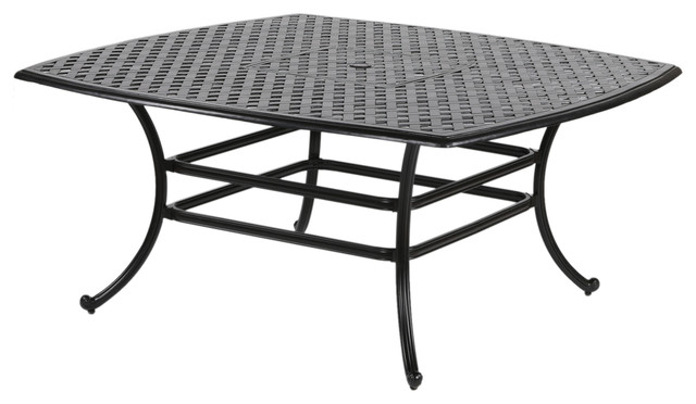 Merveilleux Sparta 64u2019 Inch Square Outdoor Cast Aluminum Dining Table Perfect For Patio