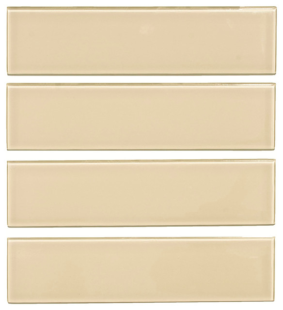 3 X12 Gl Subway Tile Oracle Collection Tan Set Of 5