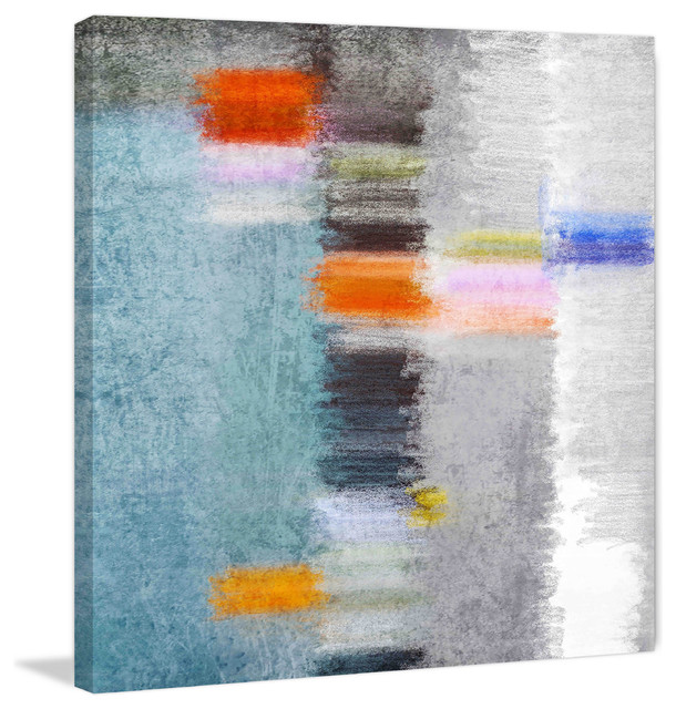 """Red Hill Floating Bathroom Vanity By Retrograde Furniture: """"Abstract 4784 3"""" Painting Print On Canvas By Irena Orlov"""