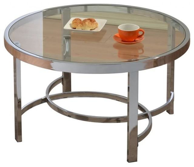 Houzz Black Coffee Table: Glass And Chrome Coffee Table