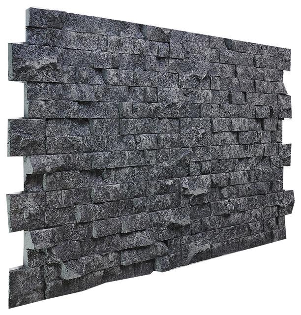 Jerusalem Stacked Wall Panel, Charcoal
