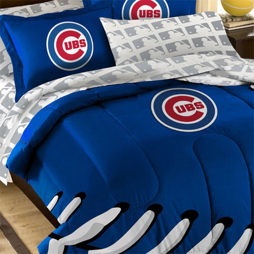 mlb chicago cubs bedding striped baseball comforter sheets