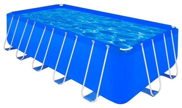 vidaXL Above-ground Swimming Pool Steel Rectangular 17\' 9\