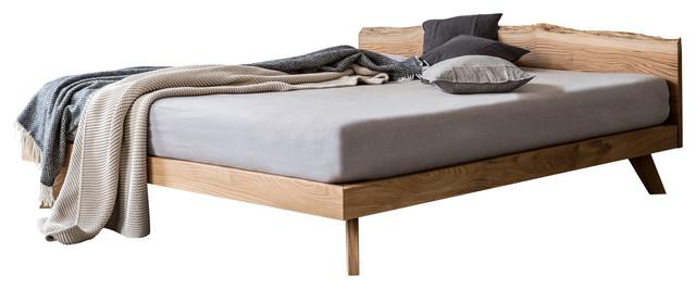 Solid Oak California King Size Bed Frame.