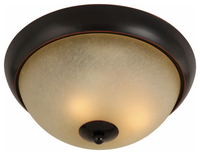 oil rubbed bronze flush mount ceiling light fixture - traditional