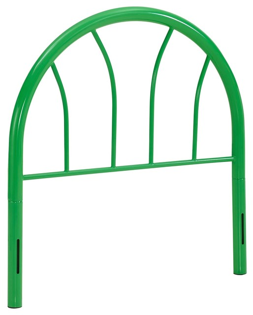 Damaris Twin Steel Headboard, Green.