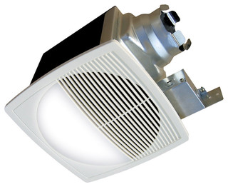 Aerofan Traditional Bath Fan With Light And Round Grille