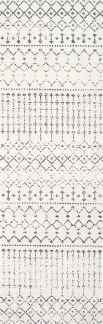 "Nuloom Gray Moroccan Blythe Rzbd16a Area Rug, Oval 6&x27; 7""x9&x27;."