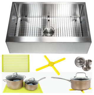 how to set a kitchen sink ariel 33 quot apron flat front stainless steel kitchen single 8901