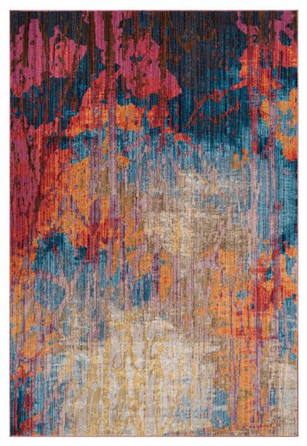 Safavieh Bristol Woven Rug, Blue/rust, 9&x27;x12&x27;.