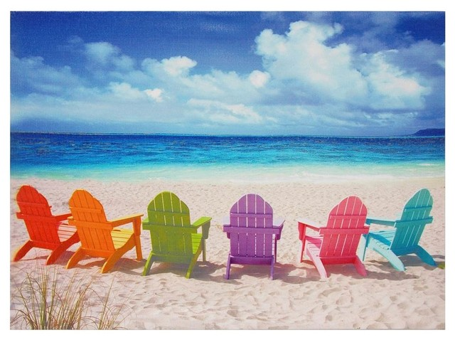 Quot Beach Chairs Quot Canvas Wall Art Beach Style Prints And