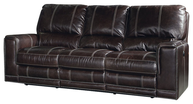 Parker Living Salinger Sofa Dual Recliner Sangria Transitional Sofas By Warehouse Direct Usa