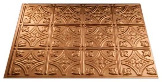 "18""x24"" Fasade Traditional 1 Backsplash Panel, Antique Bronze."