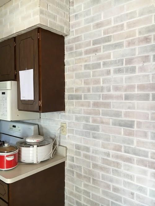 Whitewash Brick And Kitchen Colors