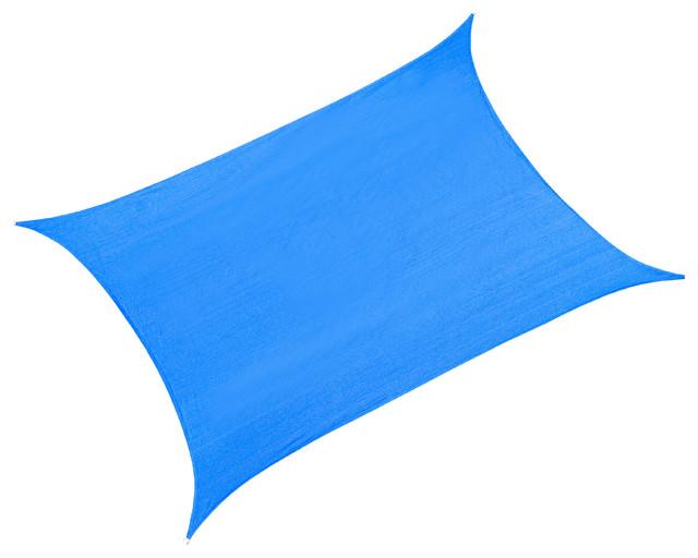 Cool Area Rectangle 9&x27;10&x27;&x27;x13&x27; Sun Shade Sail, Blue.