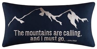 Gibson Lake Boudoir Mountains Decorative Pillow By C & F.