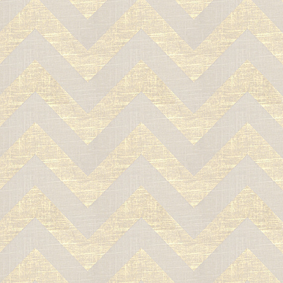 Gold Metallic and Ivory Chevron Fabric & Reviews | Houzz