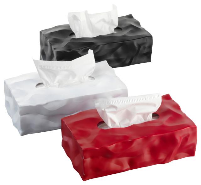 Essey Wipy II White Tissue Box Holder, Long Rectangular ...