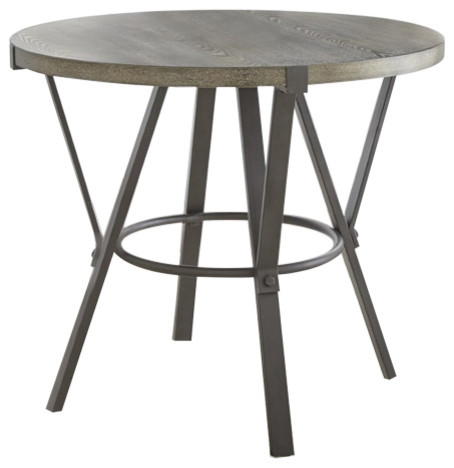 Steve Silver Portland Round Counter Height Dining Table, Gray