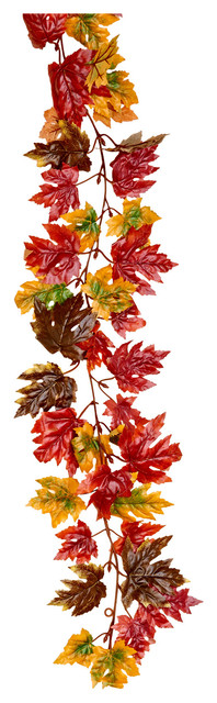 71 Maple Leaf Garland Dark Fall.