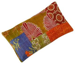 Fair Trade Patchwork Sari Cushion Eclectic Decorative