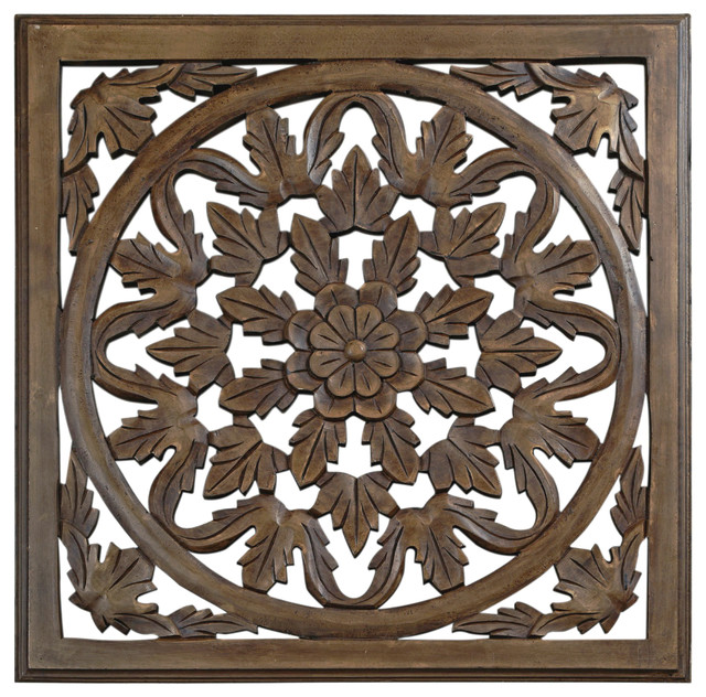 """30"""" Brown Solaris Six Wooden Wall Panel."""